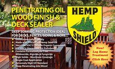 Hemp Shield - Wood Preservative and Deck Sealer | Eco Friendly Wood Preservative | Hemp Products | Low VOC Sealant