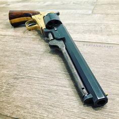 Morning stretch. . #wheelgunwednesday #wheelgun #sixshooter #revolver #pistol #gun #blackpowder #colt #navy #replica #1851navy…