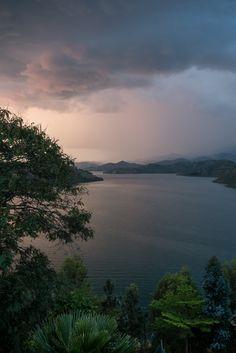 Sunset at Lake Kivu in Kibuye, Rwanda. http://alittleadrift.com/rtw-travel/