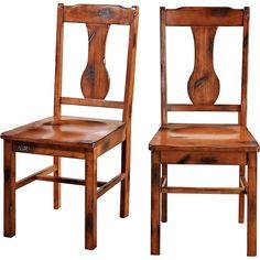 Walker Edison - Huntsman Wood Dining Chair (Set of 2) - Dark Oak