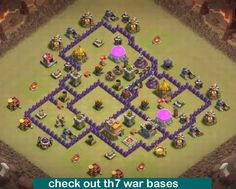 14 Th7 War Base Designs Ideas War Clash Of Clans Base