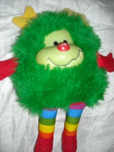 Rainbow brite bright doll sprite spright toy 1980's fuzzy dark green