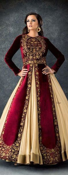 Anarkali Churidar❋Laya - House of Lutia Pakistani Bridal, Bridal Lehenga, Pakistani Dresses, Indian Bridal, Indian Dresses, Red Lehenga, Ethnic Fashion, Asian Fashion, Moda Indiana