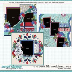 Cindy's Layered Templates - Trio Pack 49: Worlds-Norway by Cindy Schneider