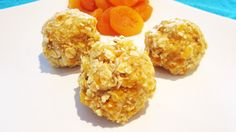 Almost Raw Coconut + Apricot Oat Balls | Vegangela