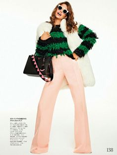 Crazy About Accessories: Lauren Auerbach by Xavi Gordo for Elle Japan, February 2017 #colorcombo #styling