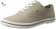 Tommy Hilfiger Int E1285rin 4d1, Sneaker Basses Femme, Beige (Cobblestone 068), 41 EU - Chaussures tommy hilfiger (*Partner-Link)