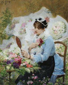 Flower Seller, French Painters: GILBERT Victor-Gabriel