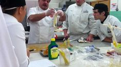 """Chef Robert Lombardi (CEC, CEPC, CCE, AAC), instructor at the Inland Northwest Culinary Academy explains how to give pulled sugar a """"pearl"""" look Cake Decorating Techniques, Cake Decorating Tutorials, Blown Sugar Art, Pulled Sugar Art, Gingerbread Frosting, Sugar Glass, Cooking Cake, Cheesecake Cupcakes, Candy Crafts"""
