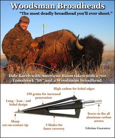 Check out the deal on Woodsman® Original Series 3-Blade Screw-In Broadheads at 3Rivers Archery Supply