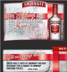 21 Days of Smirnoff Sweepstakes