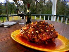 Garlic Studded Pork Shoulder Recipe : Food Network - FoodNetwork.com