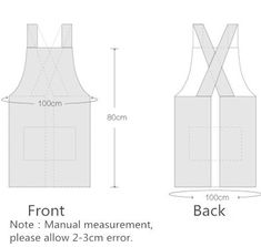 Best Sell Home Cooking Kitchen Apron Custom Colour Cotton Cross Back Apron - Buy. Sewing Aprons, Sewing Clothes, Diy Clothes, Sewing Tutorials, Sewing Crafts, Sewing Projects, Japanese Apron, Japanese Style, Apron Pattern Free