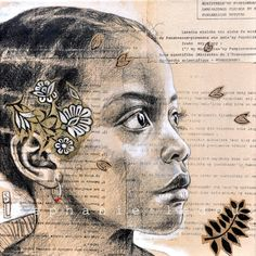 Stunning Collage drawings by French illustrator Stephanie Ledoux Collage Drawing, Collage Art, Art Drawings, Travel Sketchbook, Ledoux, Creation Art, Africa Art, African American Art, Collages