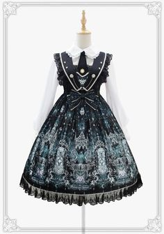 Moonlight Forest -Griffin's Whisper- Lolita Collar Jumper Dress