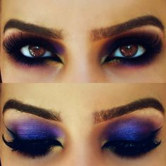Sexy Purple Arabic Makeup look Preen.Me!