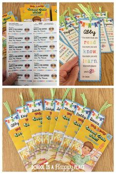 Free Editable Bookmark (great for end of the year student gift)