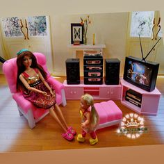 1 x TV. Best for doll house, room box, house model. Item: Dollhouse Furniture Miniature. 1/6 Scale Doll's Furniture. 1 x CD Video. 1 x Hi-Fi Entertainment Unit Set. Made of high quality plastic materials. | eBay!