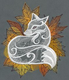 Autumn Vixen | Urban Threads: Unique and Awesome Embroidery Designs