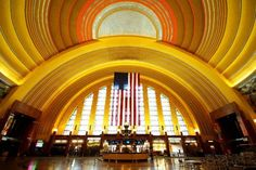 Union Terminal in Cincinnati. In addition to the great architecture, there are lovely WPA mosaics (you can see  them in the Cincinnati airport as well).