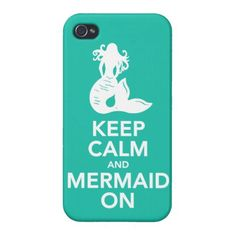 Keep Calm and Mermaid On iphone 4 case cover