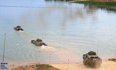 Xe tăng, pháo binh vượt sông luyện tập tác chiến   XE TĂNG, PHÁO BINH / VƯỢT SÔNG
