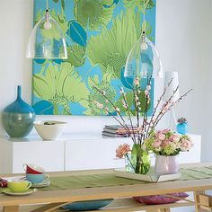 green and blue interior design - Google Search