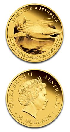 Perth Mint Australian Whale Shark 1/2oz Gold Coin Proof 2012