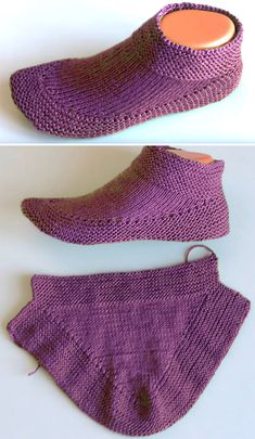 Knitting Tutorial Tutorial Knit Booties in 15 minutes - Tutorial Easy Knitting, Knitting Socks, Knitting Stitches, Knitting Patterns Free, Knit Patterns, Knitted Booties, Knitted Slippers, Crochet Shoes, Knit Or Crochet
