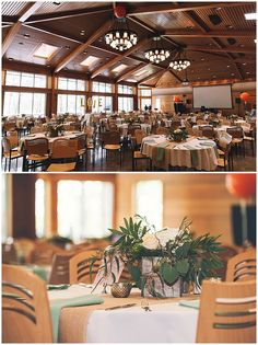 Wedding Reception At Silverwood Park In St Anthony MN Floral Centerpieces Designed By