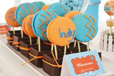 Macarons at a Hot Air Balloon Party #hotairballoon #macarons
