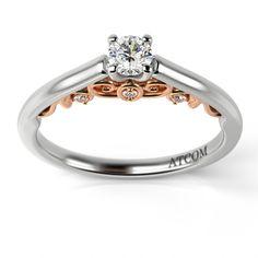 Inel de logodna cu diamante Madalin din aur alb cu roz Aur, Engagement Rings, Jewelry, Fashion, Enagement Rings, Moda, Bijoux, Engagement Ring, Jewlery
