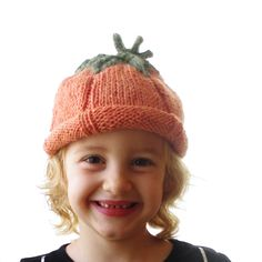 Pumpkin Hat - Soft Hand Knit - Child to Adult Sized - Ready to Ship. $30.00, via Etsy.