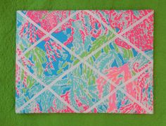 New memo board made with Lilly Pulitzer 2013 Lets Ch by jlmyakima, $38.00