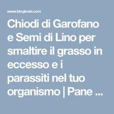 Chiodi di Garofano e Semi di Lino per smaltire il grasso in eccesso e i parassiti nel tuo organismo | Pane e Circo | Bloglovin'