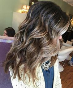 Brown and Blonde Balayage Curls