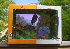 ikat bag: Cardboard Aquarium