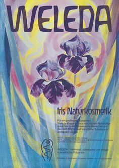 Another of our vintage Weleda advertisements from the archives, this one of our Iris range.