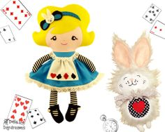 Dolls And Daydreams / Alice In Wonderland Sewing Pattern AND BUNNY