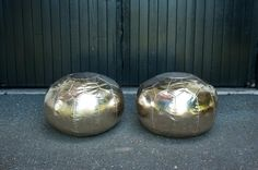 Great for a lounge, ground seating or as ottomans. Moroccan Style, Christmas Bulbs, Ottoman, Lounge, Poufs, Holiday Decor, Metal, Home Decor