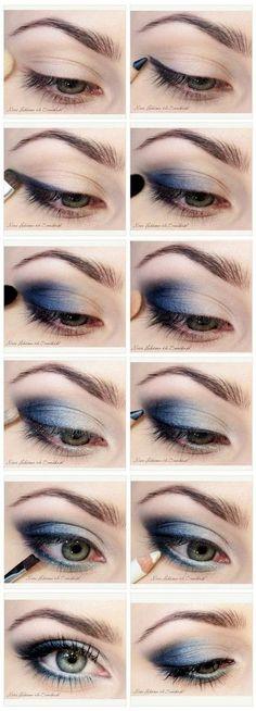 How to Do Blue Smokey Eyes | DIY Makeup by Makeup Tutorials http://www.makeuptutorials.com/makeup-tutorials-graduation-beauty-ideas