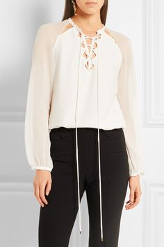 Altuzarra | Benny cutout silk and georgette blouse | NET-A-PORTER.COM