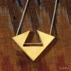 Necklaces - Reversible Mixed-Metal Arrow Pendant | SERRV