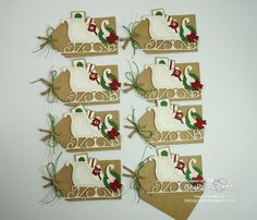 I took a few special people a little gift at OnStage last week - a window box full of Christmas tags.        I saw a box like this on Pint...