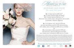 Buy More, Save More Sale Event starts tomorrow at Mira Bridal Couture!