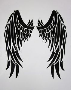 about Stencil Angel Wings ~ UMR Wall Stencil Stencil Angel Wings ~ UMR Wall Stencil in Crafts, Multi-Purpose Craft Supplies, Stencils & Templates Free Tattoo Designs, Wing Tattoo Designs, Angel Tattoo Designs, Tatoo Art, Body Art Tattoos, Tattoo Drawings, Tribal Wings, Tribal Feather, Art Clipart