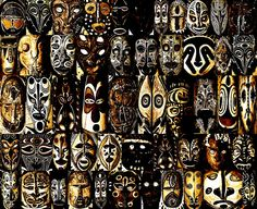 Tribal Masks of Papua New Guinea Greeting Card for Sale by Per Lidvall Mask Images, Painted Gourds, Abstract Drawings, Abstract Paintings, Tribal Fusion, Gourd Art, Culture, Mask Design, Papua New Guinea