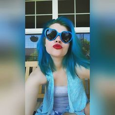 Normal is boring...Life should be colourful! ✨ #selfie #me #love #pretty #instagood #instaselfie #selfietime #face #shamelessselefie #life #hair #blue #exremeteal #overtone #portrait #igers #fun #instalove #smile #igdaily
