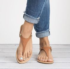 ~~~great neutral t-strap sandals. Great with jeans or a dress! Stitch fix shoes. Stitch fix spring summer 2017 Something similar in Black would be great or black and/or nude gladiators! Sandals Outfit, Girls Sandals, T Strap Sandals, Sport Sandals, Women Sandals, Summer Sandals, Flat Sandals, Leather Sandals, Cute Maxi Dress