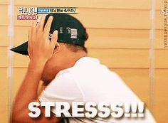 Kang Gary's STRESS! [gif] via Running Man Gifs |tumblr